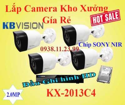 Lắp Camera Kho Xưởng Gía Rẻ KX-2013C4, Camera kho xương, lap camera kho xương co chipsony, lap camera quan sat kho xuong, kx-2013c4, camera kbvision, camera giá rẻ kho xuong