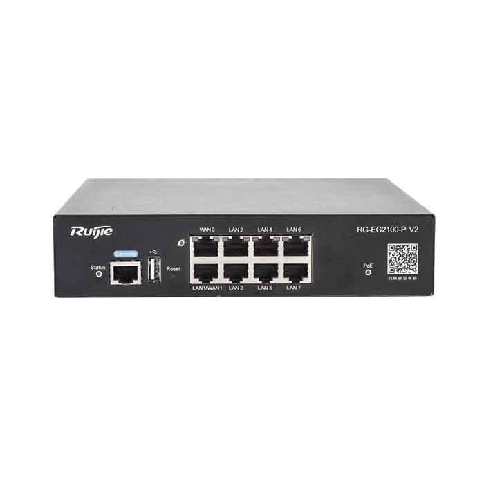 RG-EG2100-P V2,switch RG-EG2100-P V2,GATE WAY TÍCH HỢP CỔNG PoE RUIJIE RG-EG2100-P V2