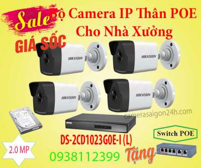 Lắp đặt camera tân phú Bộ Camera IP Thân POE Cho Nhà Xưởng