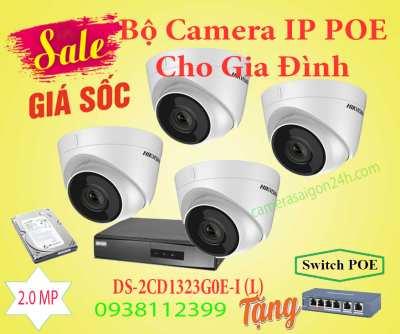 Bộ Camera Quan Sát IP POE Dành Cho Gia Đình, lắp camera quan sát IP POE dành cho gia đình, camera quan sát  ip poe, camera IP POE