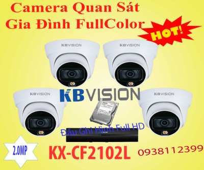 bộ camera full color kx-cf2102l cho gia đình chính hãng giá rẻ độ phân giải 2.0MP