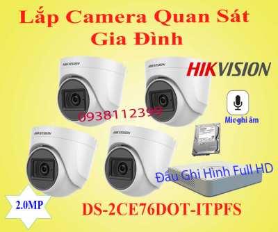 Lắp đặt camera Camera Quan Sát Gia Đình Có Ghi Âm