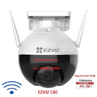 Camera Wifi EZVIZ C8C Với diện mạo khác biệt, camera EZVIZ C8C sẽ giúp bạn bảo vệ ngôi nhà theo phong cách hoàn toàn mới: không chỉ chuyên nghiệp và an toàn mà còn thật tinh tế, lắp camera wifi ngoài trời ezviz quay xoay chất lượng hình ảnh sắt nét full HD 1080P chất lương.