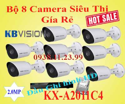Lắp đặt camera Lắp Bộ 8 Camera Quan Sát Siêu Thị Gía Rẻ