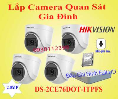 Lắp đặt camera Camera Quan Sát Gia Đình DS-2CE76DOT-ITPFS