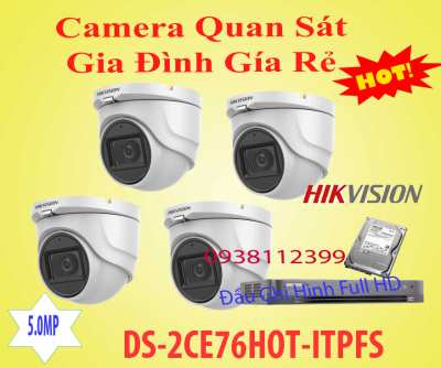 Lắp Camera Gia Đình Gía Rẻ,camera gia đình gía rẻ,camera giá rẻ,camera gia dinh, camera DS-2CE76HOT-ITPFS,DS-2CE76HOT-ITPFS