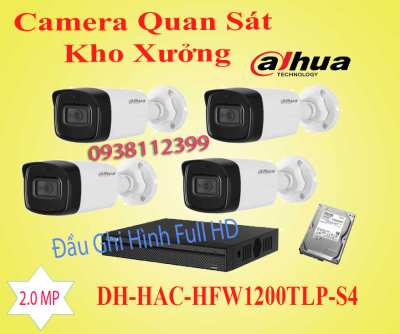 Camera quan sát kho xưởng DH-HAC-HFW-1200TLP-S4,DH-HAC-HFW-1200TLP-S4,camera kho xưởng DH-HAC-HFW-1200TLP-S4, lắp đặt camera quan sát kho xưởng DH-HAC-HFW-1200TLP-S4,