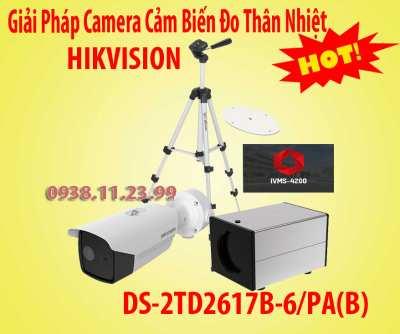 Gỉai Pháp Camera Cảm Biến ĐoThân Nhiệt HIKVISION,DS-2TD2617B-6/PA(B),camera cảm biến thân nhiệt, camera đo thân nhiệt, camera hikvision đo thân nhiệt