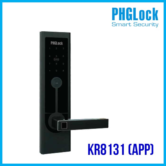 Khóa cửa điện tử KR8131 APP,PHGLOCK-KR8131-APP,Khóa mã số PHGLock KR8131 App,Khóa thẻ từ, mã số PHGLock KR8131 APP,