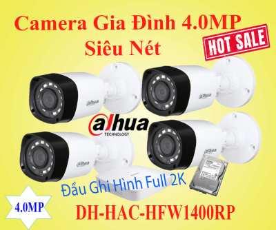 Lắp Camera Gia Đình 4MP Siêu Nét chất lượng hình ảnh Utra HD 2k gói camera giám sát siêu nét cho gia đình cửa hàng văn phòng chất lượng hình ảnh sáng đẹp giám sát qua mạng điện thoại ổn định thương hiệu camera Dahua hàng đầu trên thế giới