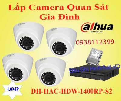 Lắp Camera Quan Sát gia đình,camera cửa hàng, camera gia đình giá rẻ,lắp camera dahua cho gia đình,Lắp Camera Quan Sát gia đình DH-HAC-HDW1400RP-S2