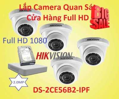 Lắp Đặt Camera Quan Sát Cho Cửa Hàng Full HD DS-2CE56B2-IPF, DS-2CE56B2-IPF, Camera cho cửa hàng giá rẻ, lắp đặt camera quan sát dành cho cửa hàng giá rẻ,