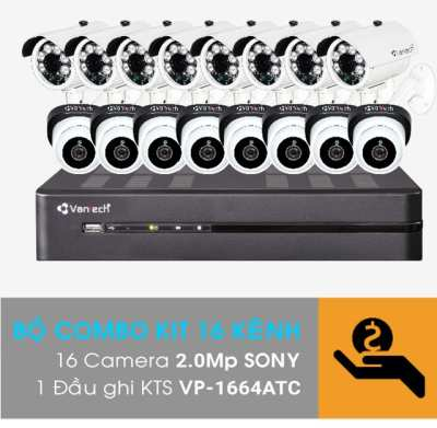 VP-K1611ATC,Bộ Kit camera VANTECH VP-K1611ATC,VANTECH VP-K1611ATC,Bộ kit Camera Vantech 16 kênh VP-K1611ATC,Combo Kit 16 kênh All In One VANTECH VP-K1611ATC