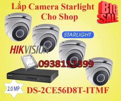 Lắp Camera Quan Sát Starlight Cho Shop cửa hàng giá rẻ, lắp camera quan sát cho màu sánh sáng yếu, camera starlight giá rẻ giám sát ổn định camera quan sát dành cho văn phòng giá rẻ, lắp camera starlight
