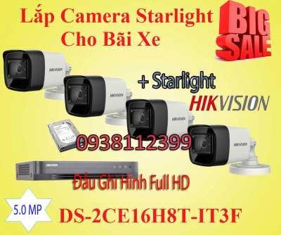 Lắp Camera Quan Sát Starlight Cho Bãi Xe, camera starlight dành cho bãi xe, camera quan sát co màu ban đêm, camera quan sát cho màu ánh áng yếu, camera starlight bãi xe