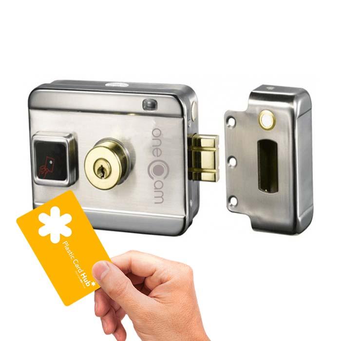 Chốt khóa cửa điện từ Onecam DL-03H-Smart,bán chốt khóa cửa thông minh giá rẻ,lắp chốt khóa cửa thông minh,
