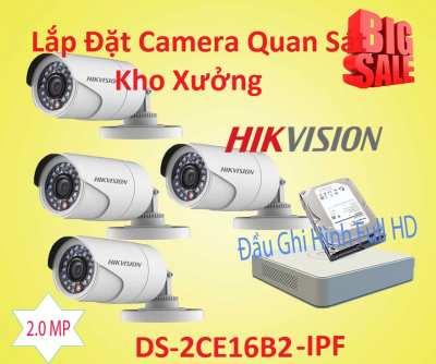 Lắp đặt camera Lắp Đặt Camera Quan Sát Cho Kho Xưởng Gía Rẻ