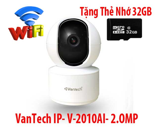 Lắp Camera Quan Sát  VanTech Wifi V-2010AI-2.0MP,lắp camera V-2010AI-2.0MP,camera wifi V-2010AI-2.0MP,vantech