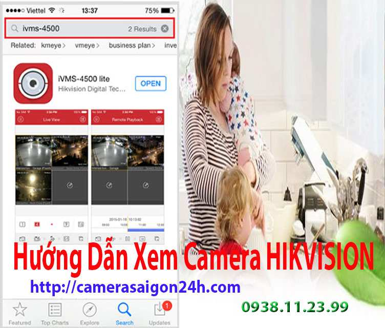 Hướng Dẫn Cách Xem Camera HIKVISION,xem hikvision trên điện thoại, hướng dẫn,huong dan xem hikvision tren dien thoai
