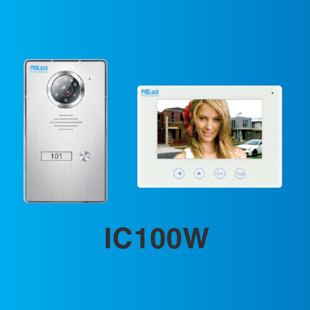 Bộ chuông cửa màn hình màu PHGLock IC100W ,PHGLock IC100W,Chuông cửa màn hình cảm ứng PHGLOCK IC100W
