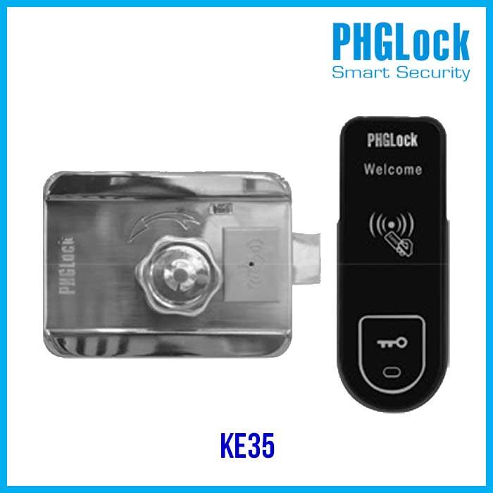 Đèn dùng năng lượng mặt trời Khóa cổng thẻ từ lắp ngoài trời PHGLock KE35