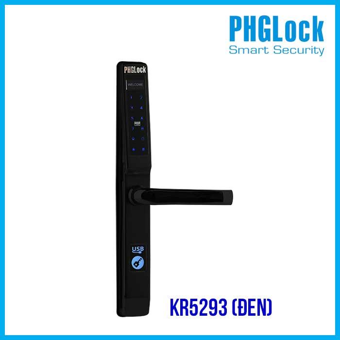 Khóa Cửa Nhôm PHGLock – KR5293(đen),Khóa thẻ từ cửa nhôm PHG KR5293(đen),KHÓA ĐIỆN TỬ PHGLOCK KR5293(den), Khóa cửa điện tử PHGLock KR5293 (Đen),Khóa cửa mã số cho cửa nhôm PHGLOCK KR5293 (Đen)
