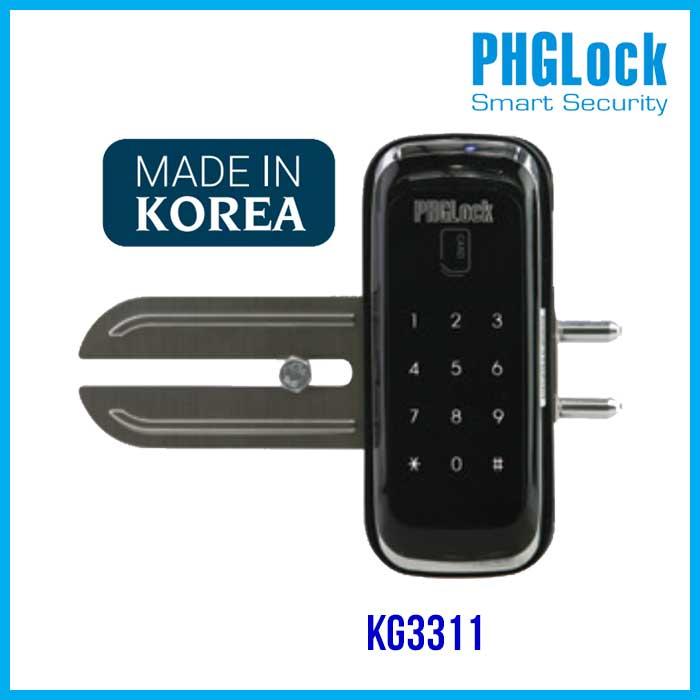 PHGLOCK KG3311,Khóa cửa mật mã cho cửa kính PHGLOCK KG3311,khóa cửa điện tử cửa kính PHGLOCK KG3311