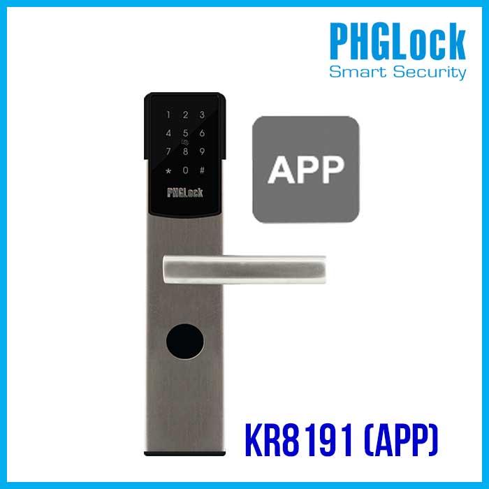 KHÓA CỬA ĐIỆN TỬ PHGLOCK KR8191(APP), KHÓA CỬA PHGLOCK KR8191(APP), KHÓA CỬA THÔNG MINH PHGLOCK KR8191(APP), KHÓA PHGLOCK KR8191(APP), PHGLOCK KR8191(APP)