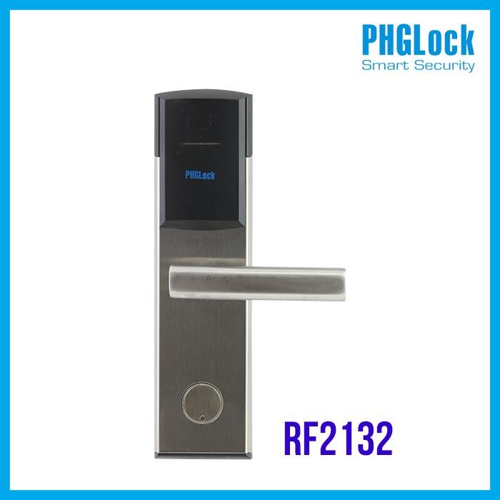 Khóa khách sạn RF2132,Bán Khóa cửa thông minh cho khách sạn PHGLOCK RF2132,Khóa cửa điện tử PHGLock RF2132,Khóa PHGLock RF2132,Khóa Cửa Vân Tay Cảm Ứng PHG Lock RF2132