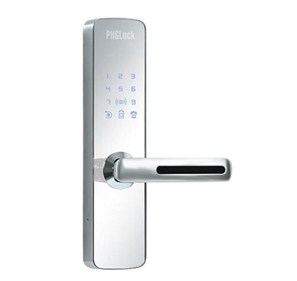 Khóa cửa điện tử PHGLock KR7153 (Mica gương),Khóa thẻ từ, mã số PHGLock KR7153 Mica gương bạc,Khoá cửa chính văn phòng PHGLock KR7153 (Mica gương bạc),Khóa mã số căn hộ PHGLOCK KR7153W Silver( Mica gương)