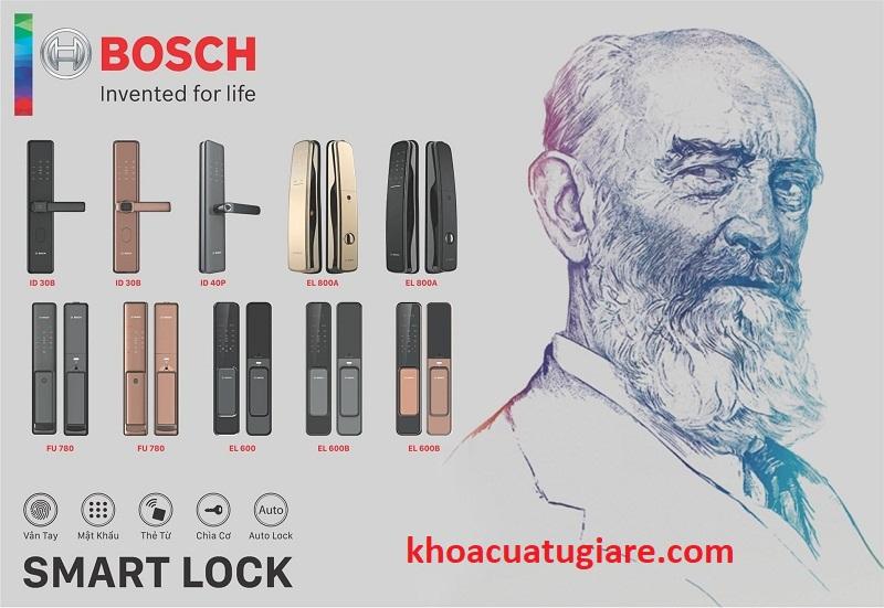 KHÓA CỬA ĐIỆN TỬ BOSCH Nói về ưu điểm của khóa cửa điện tử BOSCH, nhiều tính năng vượt trội so với khóa thường. Mở khóa bằng vân tay: Khóa được tích hợp tối đa 100 vân tayKHÓA CỬA ĐIỆN TỬ BOSCH. Khóa Cửa Điện Tử BOSCH FU550. Kích thước: Xuất xứ: Germany. Giá bán: 13.028.000 VNĐ. Bảo hành: 2 năm. Khóa Cửa Điện