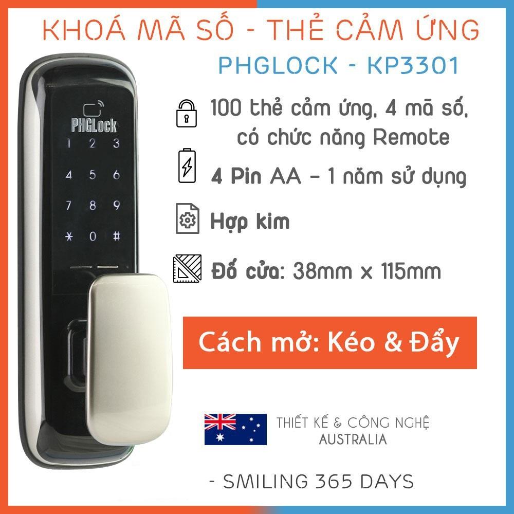 khóa điện tử PHGLock KP3301, khóa điện tử thông minh PHGLock KP3301, khóa cửa PHGLock KP3301, khóa cửa điện tử PHGLock KP3301, PHGLock KP3301