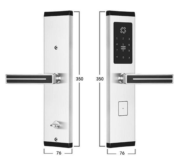 Khóa cửa thông minh Kassler KL-667 Silver,KHÓA CỬA KASSPLER KL 667 SILVER,