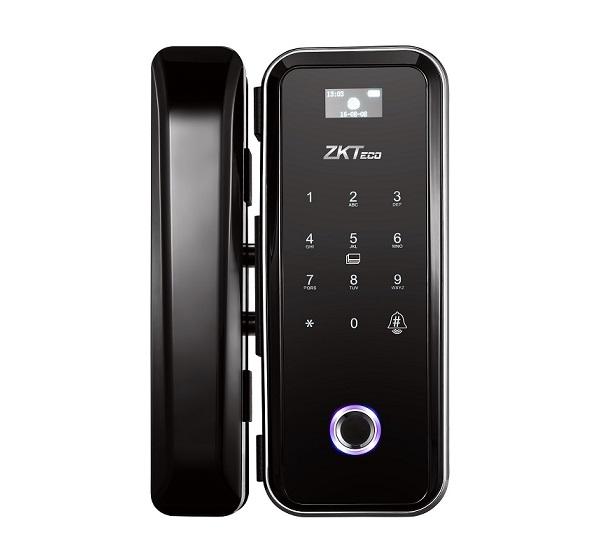Khóa cửa kính vân tay-điều khiển ZKTeco GL300,Khóa vân tay cửa kính ZKTeco GL300,Khóa cửa kính vân tay, thẻ từ, mật khẩu ZK-GL300